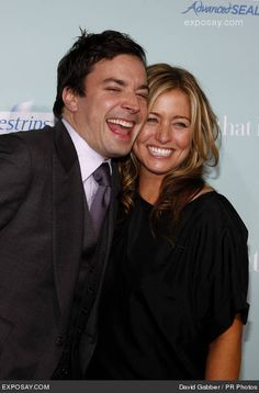 Jimmy Fallon and his wife, Nancy Juvonen! Such a cute couple!