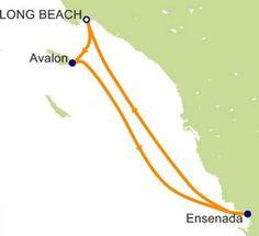 Ensenada Carnival 2014 | Carnival Imagination itinerary map of 4-day cruise Catalina-Ensenada ...