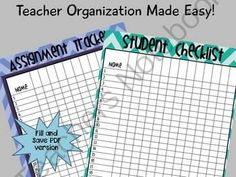 FREE Fill & Save Assignment Tracker and Grade Sheet from TheThirdWheel on TeachersNotebook.com - (2 pages) - Fill & Save Assignment Tracker and Grade Sheet
