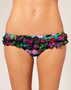 Seafolly Covent Garden Ruffle Mini Hipster Bikini Briefs - StyleSays
