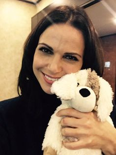 """Lana Parrilla """"@LanaParrilla: Oh my goodness! This little guy is super cute & super snuggly! Thank you @dakota829snow I love him!!"""""""
