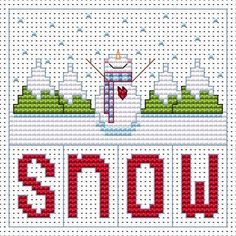 Snowman Christmas Cross Stitch Card                                                                                                                                                                                 More