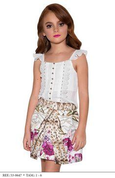 Conjunto Saia e Blusa Miss Cake Moda Infanto Juvenil 530647 Lila Baby, My Baby Girl, Cute Kids Photography, Girls World, Kids Wear, Baby Kids, Kids Outfits, Kids Fashion, Summer Dresses