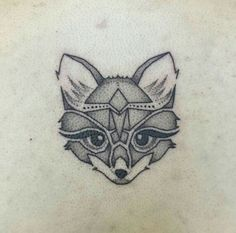 Fox dotwork tattoo