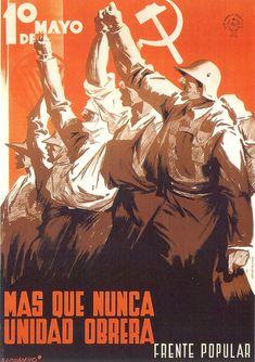 "The Spanish Civil War — imalegionnaire: Milton ""Milt"" Wolff, officer in. Ww2 Posters, Political Posters, Alphonse Mucha, Frente Popular, Spanish War, Spanish Posters, Propaganda Art, War Film, Soviet Art"