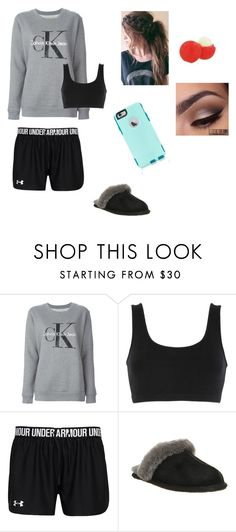 """""""PJs/Lazy"""" by fashionista-dxliv on Polyvore featuring Calvin Klein Jeans, adidas Originals, UGG Australia, OtterBox, Eos, women's clothing, women, female, woman and misses"""