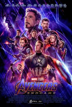 THE AVENGERS END GAME MOVIE POSTER