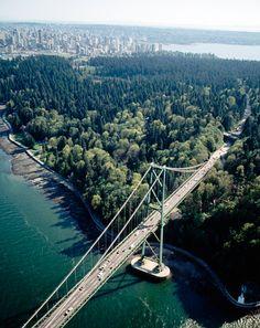 Lions Gate Bridge into Stanley Park, Vancouver, British Columbia Vancouver Bc Canada, Vancouver British Columbia, Vancouver Island, O Canada, Canada Travel, World Beautiful City, Beautiful Places