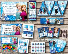 Disney Frozen Party Kit  BIRTHDAY party Printable  by TuKitDesign, $18.00 **MY favorite for Jiji**