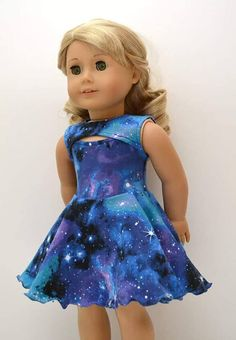 """IRL stands for """"In Real Life"""". What's more fun than having doll clothes to match the trendy styles found in stores? Enjoy this design as a sweet dress, a stylish top, and as a super fun skate dress. Easy to sew, quick to finish! This fun sewing pattern is very of the moment. Sporting a"""