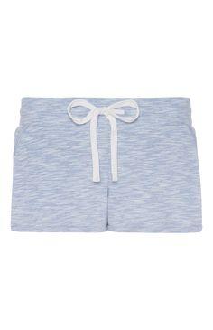 Blue Marl Jersey Shorts