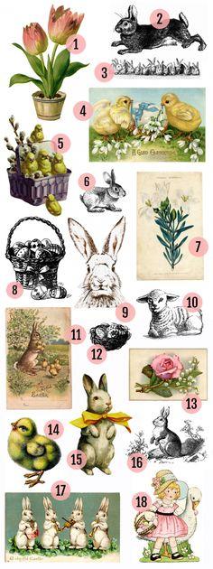 Maggie Holmes Vintage Easter Printables                                                                                                                                                                                 More