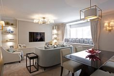 Greville House - Living & Dining room design by Mdesign London Decor, Furniture, Room, Room Design, House, Living Dining Room, Mdesign, Table, Home Decor
