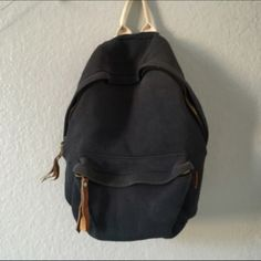 Brandy Melville backpack Used, bought from another user but I don't use it. Some fraying and color is fading but still is useable and in good condition!! Brandy Melville Bags Backpacks