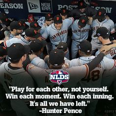 Hunter Pence's wise words to the #SFGiants