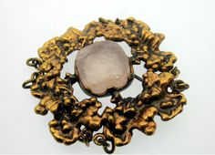 Space Age, Brutalist, Vintage Jewellery, Jewerly, Scandinavian, Herbs, Bronze, Retro, Clothes