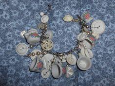 Make a Charm Bracelet with a Toy Teaset