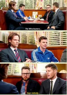 [GIFSET] #GhostfacersReturn! Haha! I say yay for Winchesters and Ghostfacers! ❤  9.14 Captives