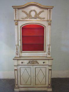 Italian Painted China Cabinet