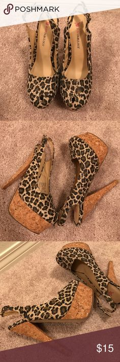 Heels Super cute animal print heels. New without box Shoes Heels