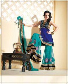 Salwar Kameez (mislabled asRama Green, Purple Net Lehenga Choli (NWG-087)) I want these pants!