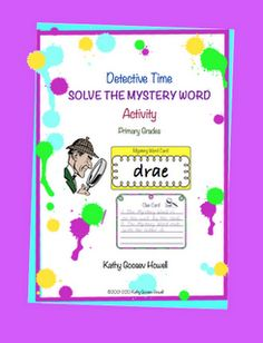 FREE Solve the Mystery Word - Go to http://pinterest.com/TheBestofTPT/ for this and thousands of free lessons.