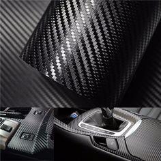 3D Carbon Fiber Vinyl Car Wrap Sheet Roll Film Sticker Decal DIY 100
