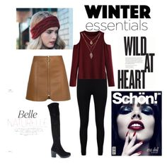 Leather skirt by roseannje on Polyvore featuring WithChic, Boohoo and Miss Selfridge