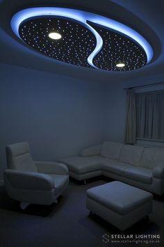 Yin and Yang custom made starry sky LED ceiling lighting