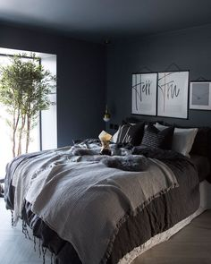 Gray color is instantly soothing. Soft blue greens create a tranquil environment… Gray color is instantly soothing. Soft blue greens create a tranquil environment, especially when paired with crisp white linens and plenty of natural light. Room Design, Home Decor Bedroom, Home Bedroom, Gorgeous Bedrooms, Home Decor, Bedroom Inspirations, Apartment Decor, Bedroom Color Schemes, Interior Design Bedroom