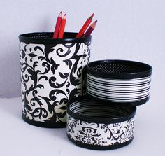 Desk Organizer / Pencil Holder made from recycled by GroovyCool, $21.00