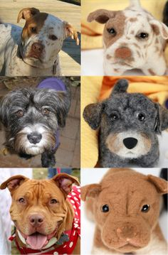 Custom wool dog look alike stuffed toys