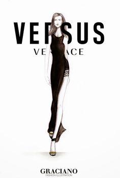 GRACIANO fashion illustration: VERSUS x VACCARELLO SPRING 2015 #NYFW