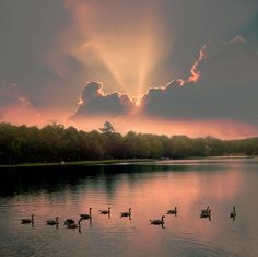 """Sunset on Milford Lake"" 