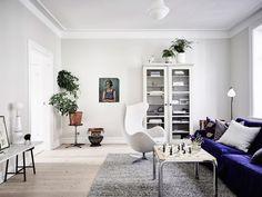 Post: La silla Series 7 de Arne Jacobsen --> arne jacobsen, blog decoración nórdica, decoración interiores, decoraciones nórdicas, diseño danés, interiores nórdicos escandinavos, muebles de diseño, silla para la mesa de la cocina, silla Series 7, sillón Egg