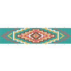 Bracelet navajo tissage de perles