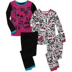 Monster High Girls' 2 Piece Undergarment Thermal Set