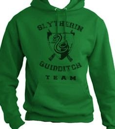 Slytherin Quidditch Team Hoodie. $22.00, via Etsy.