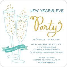 Champagne Celebration Holiday Square Invitation Holiday Party Invitations, Throw A Party, Address Labels, Holiday Parties, Party Planning, Champagne, Celebration, Seasons, Seasons Of The Year