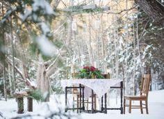 A Romantic Woodsy Winter Wedding Shoot