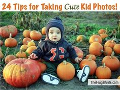 24 Tips and Tricks for Taking Cute Kid Photos! from TheFrugalGirls.com ~ you'll love these fun photography tips and tricks for taking pictures of babies and kids! #thefrugalgirls
