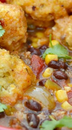 Southwest Chowder with Cornbread Dumplings - calls for breakfast sausage, so try with our venison or pork sausage