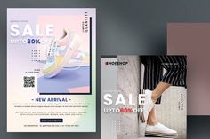 Shoes AdSale - 5 Flyers Set (PSD) by Fidan Selmani on @creativemarket Flyer Template, Flyers, Graphic Design, Templates, Creative, Shoes, Women, Fashion, Role Models