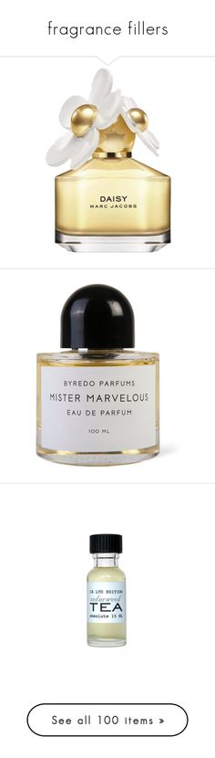 """""""fragrance fillers"""" by artemis-xx ❤ liked on Polyvore featuring beauty products, fragrance, perfume, beauty, makeup, accessories, fillers, women, marc by marc jacobs perfume and perfume fragrance"""