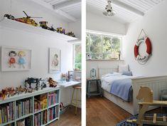 רהיטים לבנים בחדרו של הבן הצעיר (צילום: שי אדם)