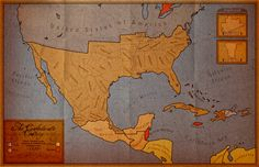 An alternate north America map in 1880. Where the CSA sons the civil war. Pax Americana by Alt-Reality