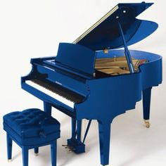 Blue Grand Piano and seat
