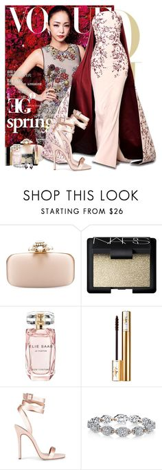 """Rose petal"" by eleonoragocevska ❤ liked on Polyvore featuring Oscar de la Renta, NARS Cosmetics, Elie Saab, RALPH & RUSSO, Yves Saint Laurent, Giuseppe Zanotti, Chanel and Harry Kotlar"