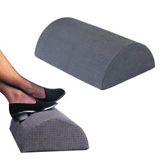 Be comfortable with the Safco Remedease Foot Cushion for only $35.95! This ingenious half-cylinder design allows a multitude of foot positions to ensure total comfort in any seated position. Hypo-allergenic medical-grade foam distributes weight evenly. Nylon cover with non-slip tread is removable and machine washable.