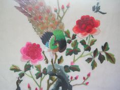 Vintage Framed Chinese Silk Thread Embroidery Hand by apotofbasil, $40.00